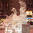 Beauty and a legendary bird at 33rd Susukino Ice Festival — Stock Photo