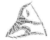 Canoe pictogram with black wordings — Stock Photo
