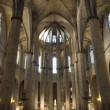 Barcelona - interior from gothic cathedral of Santa Maria del Mar — Stock Photo