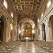 Stock Photo: Rome - nave of SantFrancescRomanchurch