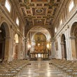 Rome - nave of Santa Francesca Romana church — Stock Photo