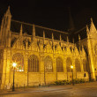 Stock Photo: Brussels - Notre Dame du Sablon gothic church at night