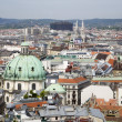 Vienna - outlook from st. Stephen cathedral tower - Stock Photo
