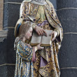 Постер, плакат: GENT JUNE 23: Statue of holy Ann mother of Virgin Mary from Saint Jacob s church on June 23 2012 in Gent Belgium