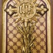 Cross from altar - Vienna - st. Elizabeth church — Stock Photo