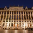 Brussels - Maison des Ducs de Brarant - palace from main square in evening - Stock Photo