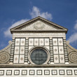 Florence - Santa Maria Novella - detail from facade - Stock Photo