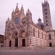 Siena - cathedral Santa maria Assunta in morning - Stock Photo