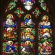 Paris - windowpane of twelves apostles - Saint Germain-l'Auxerrois gothic church — Stock Photo #13139816