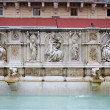 Siena - fountain on the Piazza del Campo — Stock Photo