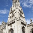 Paris - tower of Saint Germain-l'Auxerrois gothic church — Stock Photo