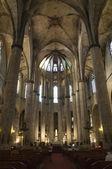 Barcelona - interior from gothic cathedral of Santa Maria del Mar — Stock Photo
