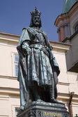 Praga - charles estátua iv — Foto Stock
