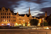Brussels - Outlook from Monts des Arts in evening. — Stock Photo