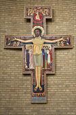 Bryssel - 22 juni: franciscan cross från nationella basilikan på sacred heart den 22 juni, 2012 i bryssel. — Foto Stock