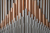 BRUSSELS - JUNE 22: Detail from organ in National Basilica of the Sacred Heart on June 22, 2012 in Brussels. — Stockfoto