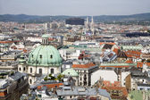 Vienna - outlook from st. Stephen cathedral tower — Stock Photo