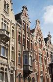 Gante - fachadas típicas de las casas — Foto de Stock