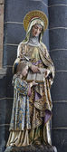 GENT - JUNE 23: Statue of holy Ann mother of Virgin Mary from Saint Jacob s church on June 23, 2012 in Gent, Belgium. — Stockfoto
