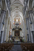 GENT - JUNE 22: Nave from Saint Nicholas gothic church on June 22, 2012 in Gent, Belgium. — Stock Photo