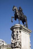 Londres - la estatua del rey carlos i - trafalgar square — Foto de Stock