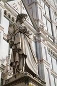 Florencja - dante allighieri katedra santa croce — Zdjęcie stockowe