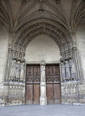 Paris - portal of Saint Germain-l'Auxerrois gothic church — Stock Photo