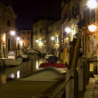 Venice - canal in night — Stock Photo