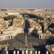Stock Photo: Rome - outlook from cupolof st. Peters cathedrale - square