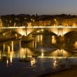 Rome - Vitorio Emanuelle bridge - night — Stock Photo