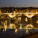 Rome - Vitorio Emanuelle bridge - night — Stock Photo