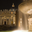 Rome - fountain for the basilica of st. Peter - night — Stockfoto