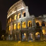 Rome - Colosseum - night — Stock Photo