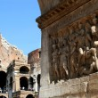 Rome - relief from constantine triumph arch — Stock Photo
