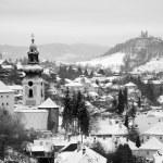 Old castle and calvary in Banska Stiavnica - Slovakia - unesco monument — Stock Photo #13141416