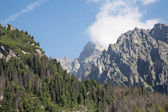 High Tatras - Lomnicky peak from Hrebienok — Stock Photo