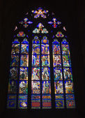 Window-pane from st. vitus cathedral in prague — Stockfoto