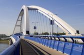 Bratislava - modern Apollo bridge — Stock Photo