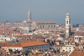 Churches of Venice from bell-tower - background - Madonna dell Orto church — Stock Photo