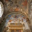 Rome - fresco - side chapel of Santa Maria sopra Minerva church - Stockfoto
