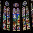 Paris - sanctuar windowpane of Saint Denis cathedral — Stock Photo