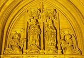 Brussels - portal of Saint Michael s cathedral — Stockfoto