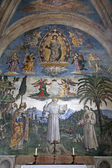 Rome frescos from Santa Maria Aracoeli church — Stock Photo