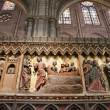 Paris - reliefs from Jesus life  - Notre-Dame cathedral - Stockfoto