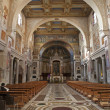 ROME, MARCH - 22: Interior of church San Cristogono in Trastevere, 2012, Italy. - Zdjęcie stockowe