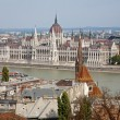 Stock Photo: Budapest - outlook from walls to parliament