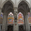 Brussels - Nave of cathedral of Saint Michael and Saint Gudula. — Stock Photo