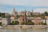 Budapest - St. Matthew's Cathedral and Calvin's church — Stock Photo