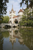 BUDAPEST - SEPTEMBER 22: Vajdahunyad castle on September 22, 2012 in Budapest. — Stock Photo