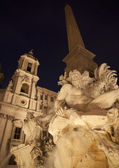 Rome - Piazza Navona in morning and Fontana dei Fiumi by Bernini — Stock Photo